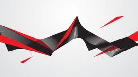 Conception graphique noire rouge de vecteur de concept de fond de r?sum? photos stock