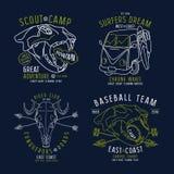 Conception graphique pour le T-shirt Photo libre de droits