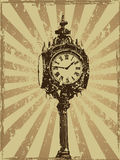 Conception grunge d'horloge victorienne Image libre de droits