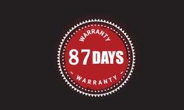 conception grunge d'illustration de garantie de 87 jours illustration libre de droits