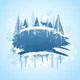 Conception grunge de forêt de l'hiver Photos libres de droits