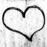 Conception grunge de symbole de coeur Photographie stock