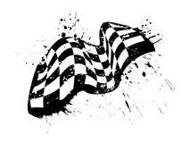 Conception grunge de vecteur de drapeau à carreaux de course Image libre de droits