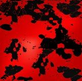 Conception grunge noire et rouge Images libres de droits