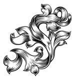 Conception héraldique de modèle en filigrane floral de rouleau illustration de vecteur