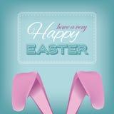 Conception heureuse d'oreilles de lapin de Pâques illustration de vecteur