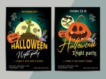 Conception heureuse de calibre d'affiche de partie de Halloween Tous sanctifient la mouche de la veille Photographie stock libre de droits