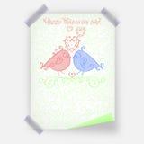 Conception heureuse de carte de voeux ou de bannière de calibre d'affiche de Valentine Day ou de jour de valentines dans le col v illustration libre de droits