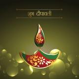 Conception heureuse de diya de diwali Image stock