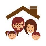 Conception heureuse de famille illustration de vecteur