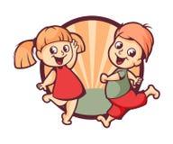 Conception heureuse de logo d'enfants Photos libres de droits
