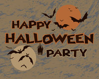 Conception heureuse de partie de Halloween Images stock