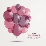 Conception heureuse de Saint-Valentin Image stock