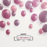 Conception heureuse de Saint-Valentin Photos libres de droits