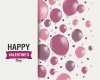 Conception heureuse de Saint-Valentin Photographie stock libre de droits