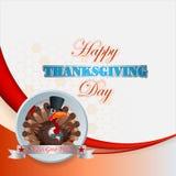 Conception heureuse de thanksgiving avec la dinde de bande dessinée Image stock