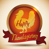Conception heureuse de thanksgiving, illustration de vecteur Photos stock