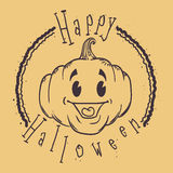 Conception heureuse de timbre de Halloween illustration libre de droits