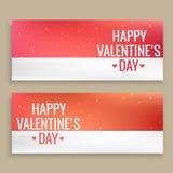 Conception heureuse de vecteur de bannières de jour de valentines Image stock
