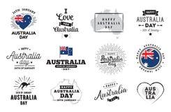 Conception heureuse de vecteur de jour d'Australie illustration de vecteur
