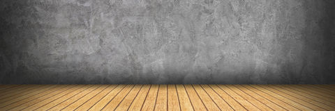 conception horizontale sur le plancher de ciment et en bois pour le modèle Images stock