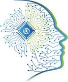 Conception humaine de logo de circuit Image libre de droits