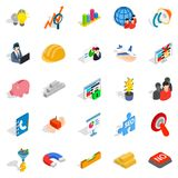 Conception icons set, isometric style. Conception icons set. Isometric set of 25 conception vector icons for web isolated on white background Royalty Free Stock Image