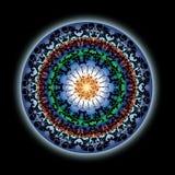 Conception indienne colorée de mandala de lotus illustration libre de droits