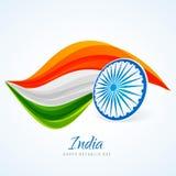 Conception indienne de vecteur de conception d'abrégé sur drapeau Photo stock