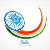 Conception indienne de vecteur de fond d'affiche de drapeau Photo stock