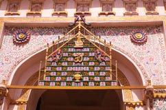 Conception indoue d'architecture dans le fort d'Udaipur photos libres de droits