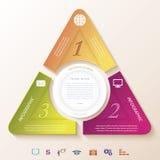 Conception infographic abstraite avec le cercle et trois segments Photographie stock