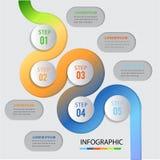 Conception infographic d'élément de forme de courbe Image stock