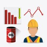 Conception infographic d'industrie pétrolière de pétrole et  Photographie stock libre de droits