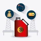Conception infographic d'industrie pétrolière de pétrole et  Image stock