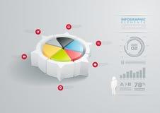 Conception infographic de graphique circulaire illustration de vecteur