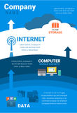 Conception infographic de stockage de nuage Image libre de droits