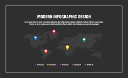 Conception infographic moderne illustration libre de droits