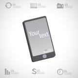 Conception infographic moderne avec l'espace pour votre texte et disposition sur l'écran de smartphone Peut être employé pour des Photographie stock libre de droits