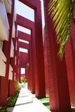 Conception intéressante dans l'hôtel dans Cancun, Mexique Photographie stock
