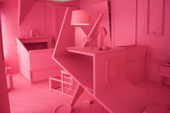 Conception intérieure à l'espace de Ventura Lambrate pendant la semaine de Milan Design Images stock