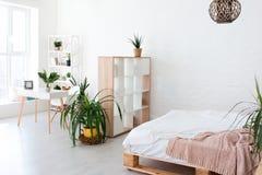 Conception intérieure confortable de studio moderne dans le style scandinave Une salle énorme spacieuse en couleurs les couleurs  photos stock