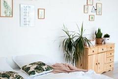 Conception intérieure confortable de studio moderne dans le style scandinave Une salle énorme spacieuse en couleurs les couleurs  photographie stock libre de droits
