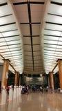 Conception intérieure d'aéroport Singapour de Changi Photo stock