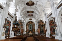 Conception intérieure d'abbaye de Kloster Irsee Photographie stock libre de droits
