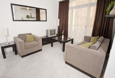 Conception intérieure d'appartement de luxe Photos stock