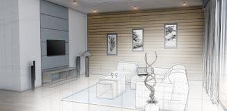 Conception intérieure d'un salon Photographie stock