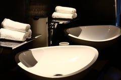 Conception intérieure d'une salle de bains Images libres de droits