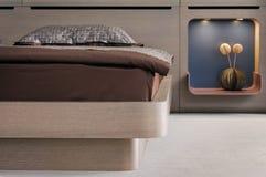 Conception intérieure de belle et moderne chambre à coucher. Photos stock
