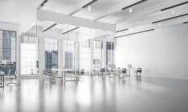 Conception intérieure de bureau dans la couleur de whire et rayons de lumière de victoire Images libres de droits